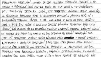 Dopisy bývalých klientů