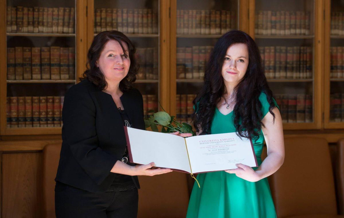 Cena Rektora UK pro naši mladou kolegyni