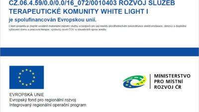 Rozvoj služeb terapeutické komunity WHITE LIGHT I